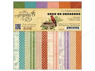 "Papers New: Graphic 45 A Time To Flourish Collection Paper Pad 6""x 6"""