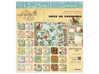 "Cardstock  8x8: Graphic 45 A Time To Flourish Collection Paper Pad 8""x 8"""