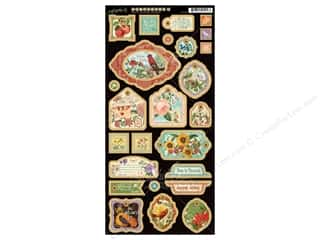 Tabs Animals: Graphic 45 A Time To Flourish Collection Decorative Chipboard