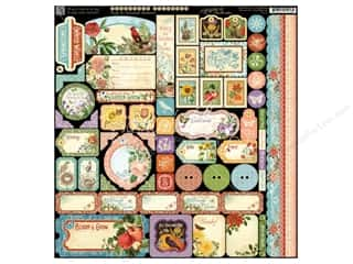 Graphic 45: Graphic 45 A Time To Flourish Collection Sticker Deco