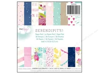 Flowers New: American Crafts 6 x 6 in. Paper Pad Dear Lizzy Serendipity