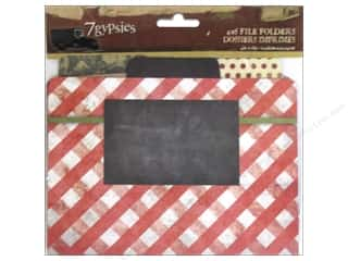 New Burgundy: 7 Gypsies Printed File Folders 6 pc. Recipe