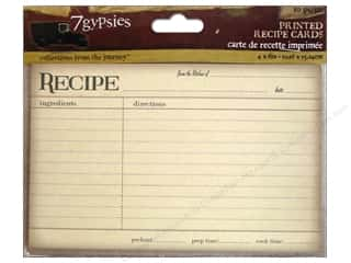 Food $6 - $10: 7 Gypsies Printed Recipe Cards 10 pc. Vintage