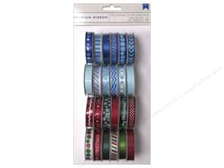 American Crafts Ribbon and Fiber Embellishments: American Crafts Ribbon Value Pack 24 pc. Winter