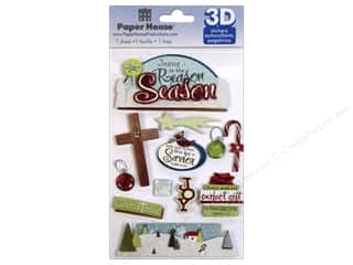 Religious Subjects Brown: Paper House Sticker 3D Reason for the Season