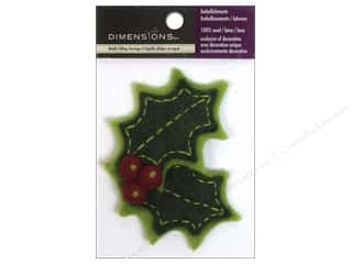 wool felt: Dimensions 100% Wool Felt Embellishment Holly With Berries