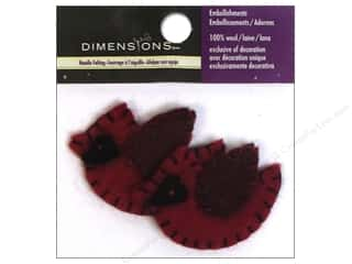 1 Pair: Dimensions 100% Wool Felt Embellishment Cardinal Pair