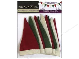 Wool Scrapbooking: Dimensions 100% Wool Felt Embellishment Holiday Small Pennant Banner