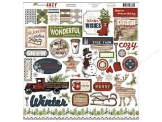 Carta Bella Winter: Carta Bella Sticker 12 x 12 in. Warm & Cozy Element (15 sheets)