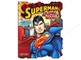 Gibbs Smith Publishing Activity Books / Puzzle Books: Bendon Shaped Coloring & Activity Book Superman