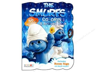 Gibbs Smith Publishing Activity Books / Puzzle Books: Bendon Shaped Coloring & Activity Book Smurfs
