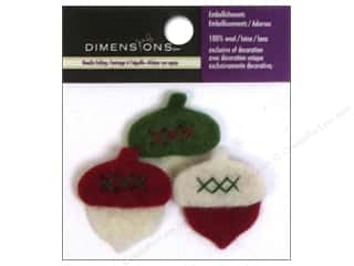 Dimensions 100% Wool Felt Embel Acorns
