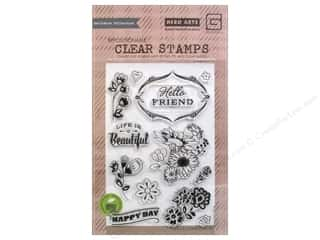 Stamped Goods Hearts: BasicGrey Clear Stamps 13 pc. Vivienne Good Day