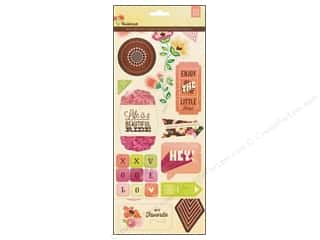 BasicGrey Chipboard Shapes Stickers Vivienne