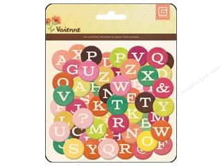 BasicGrey Chipboard Alphabet Stickers Vivienne