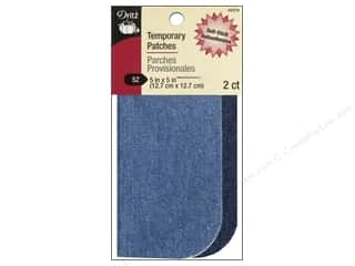 Dritz Patch Stick On 5x5 Denim Assorted Blue 2pc
