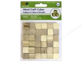 Kid Crafts Wood: Craft Medley Wood Craft Cubes 5/8 in. Natural 36 pc.