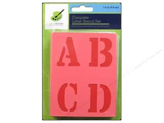 "Hearts $0 - $3: Multicraft Craft Decor Stencil Set 1.5"" Letter"