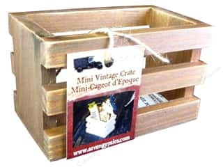 Wood: 7 Gypsies Mini Vintage Crate Stained