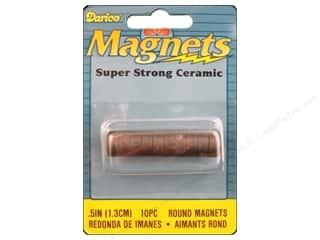 "Darice Magnet 1/2"" Round Ceramic 10pc"