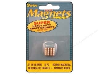 Darice Magnet 8mm Round Heavy Duty 8pc