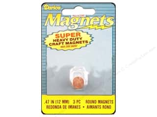 Darice Magnet 12mm Round Heavy Duty 3pc