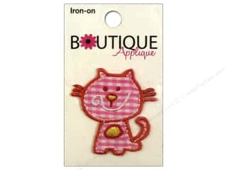 Blumenthal Embroidered Appliques: Blumenthal Boutique Applique Pink Cat