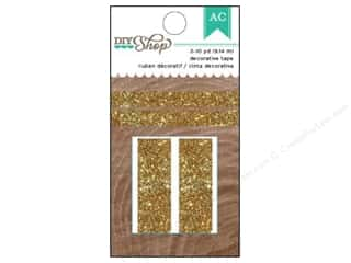 Tapes New: American Crafts Decorative Tape 2 pc. DIY Shop 2 Gold Glitter