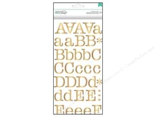 New ABC & 123: American Crafts Alphabet Stickers DIY Shop 2 Typewriter Gold