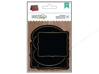 School New: American Crafts Labels 12 pc. DIY Shop 2 Chalkboard