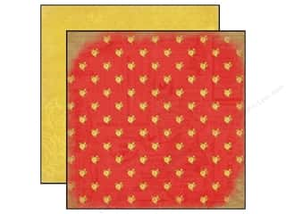 Carta Bella 12 x 12 in. Paper Yesterday Red Floral (25 piece)