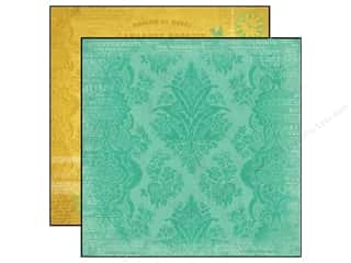Carta Bella 12 x 12 in. Paper Yesterday Damask Teal (25 piece)