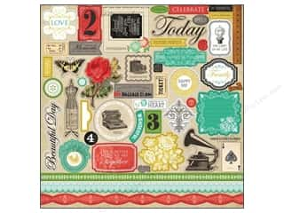 Carta Bella Theme Stickers / Collection Stickers: Carta Bella Sticker 12 x 12 in. Yesterday Element (15 sets)