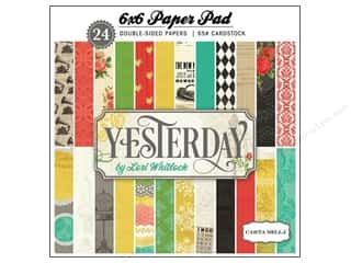 Carta Bella Carta Bella Paper Pad: Carta Bella 6 x 6 in. Paper Pad Yesterday
