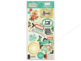 Carta Bella Dimensional Stickers: Carta Bella Chipboard Accents Yesterday