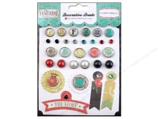 Carta Bella: Carta Bella Decorative Brads Yesterday 29 pc.