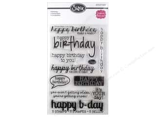 Birthdays Stamps: Sizzix Stamp Stephanie Barnard Clear Birthday