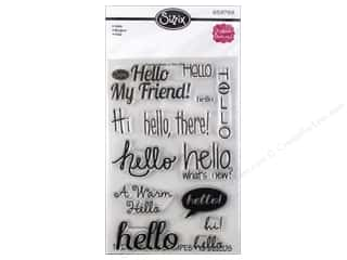 Clearance Plaid Stamps Clear: Sizzix Stamp Stephanie Barnard Clear Hello