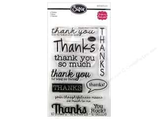 Rubber Stamping $10 - $61: Sizzix Stamp Stephanie Barnard Clear Thanks
