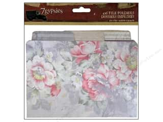 Office Flowers: 7 Gypsies 4 x 6 in. Printed File Folders 6 pc. Gypsy Moments