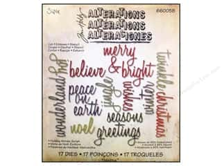 Sizzix Die THoltz Thinlits Holiday Word Script