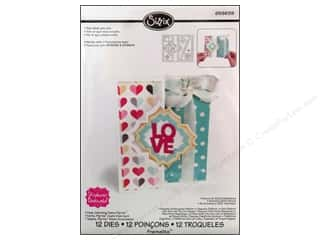 Love & Romance DieCuts Sticker: Sizzix Dies Stephanie Barnard Framlits Flip Its Card Charming
