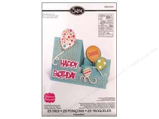 Cutting Mats Party & Celebrations: Sizzix Dies Stephanie Barnard Framelits Step Ups Card Balloons