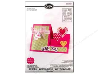 Love & Romance New: Sizzix Dies Stephanie Barnard Framlits Step Ups Card Hearts