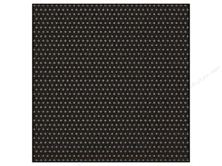 Craft Embellishments New: American Crafts 12 x 12 in. Cardstock DIY Shop 2 Gold Foil Dots On Black (15 pieces)