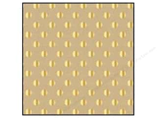 Craft Embellishments New: American Crafts 12 x 12 in. Cardstock DIY Shop 2 Gold Foil Dot on Kraft (15 pieces)