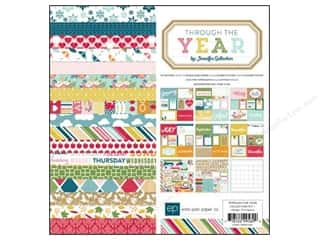 Clearance Echo Park Collection Kit: Echo Park 12 x 12 in. Paper Through The Year Collection Kit