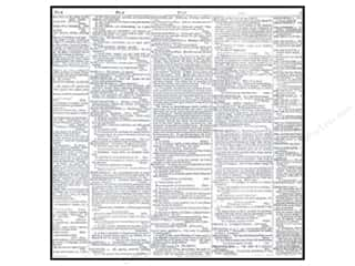 New Black: American Crafts 12 x 12 in. Vellum DIY Shop 2 Dictionary Print (15 pieces)
