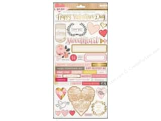 Paper Accents Valentine's Day Gifts: Crate Paper Stickers Kiss Kiss Accent 70 pc.