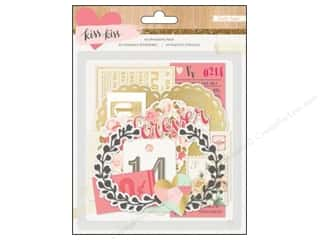 Authentique Paper Die Cuts / Paper Shapes: Crate Paper Die Cut Embellishments Kiss Kiss Ephemera 94 pc.